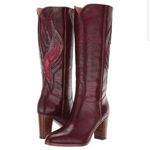 Frye Wine Multicolored June Flame Tall Boot